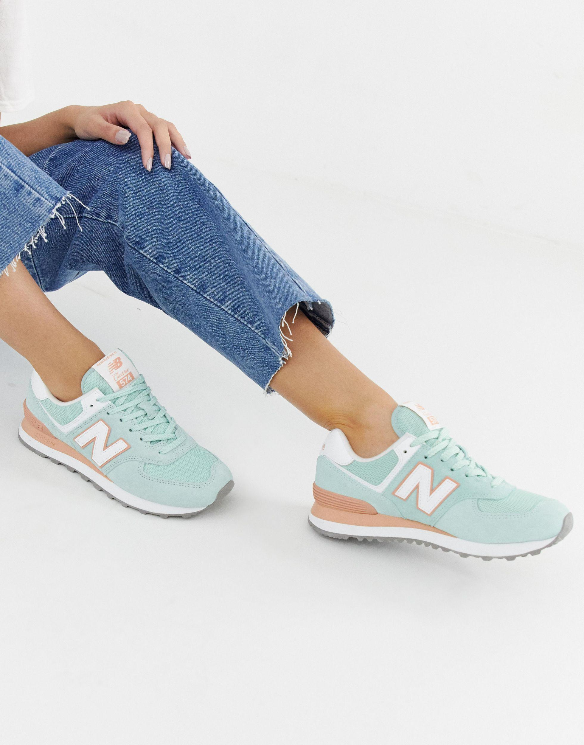 New Balance Rubber 574 V2 Pastel Mint Sneakers in Green - Lyst