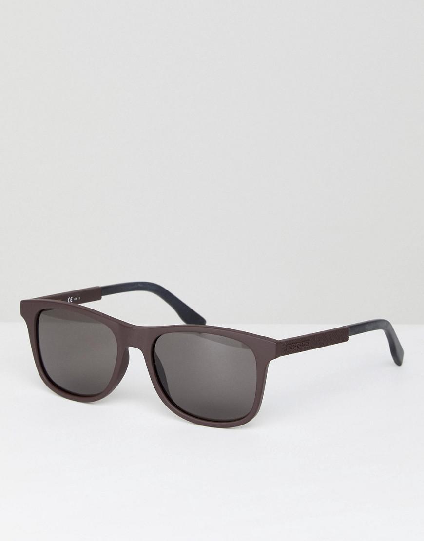733f4d2eb069 Lyst - BOSS Orange Square Sunglasses in Black