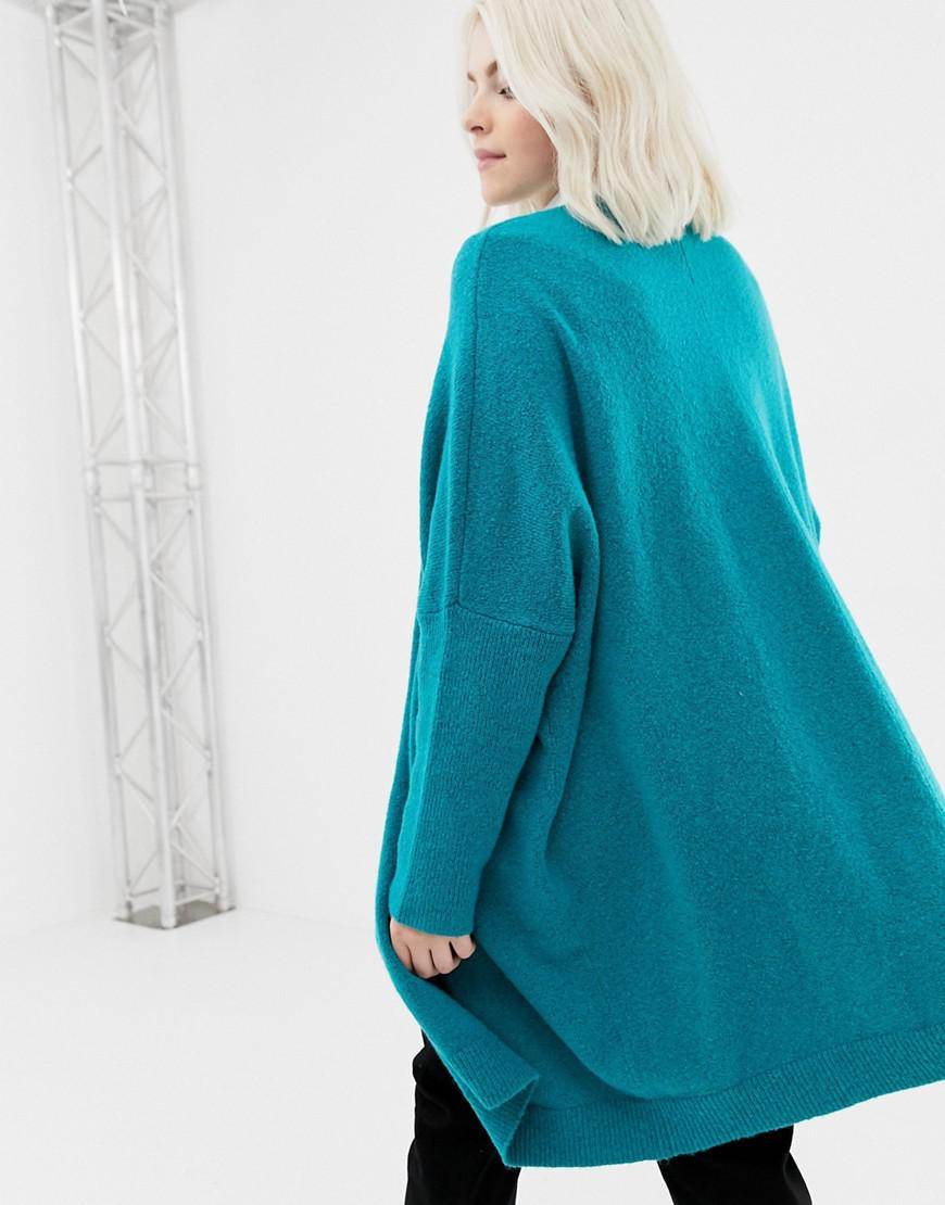 9e72641f0 Lyst - ASOS Asos Design Curve Eco Oversize Cardigan In Fluffy Yarn ...