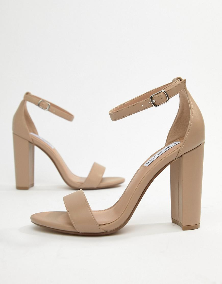 2f2ce62c616 Steve Madden Carson Leather Blush Pink Heeled Sandals in Pink - Save 18% -  Lyst