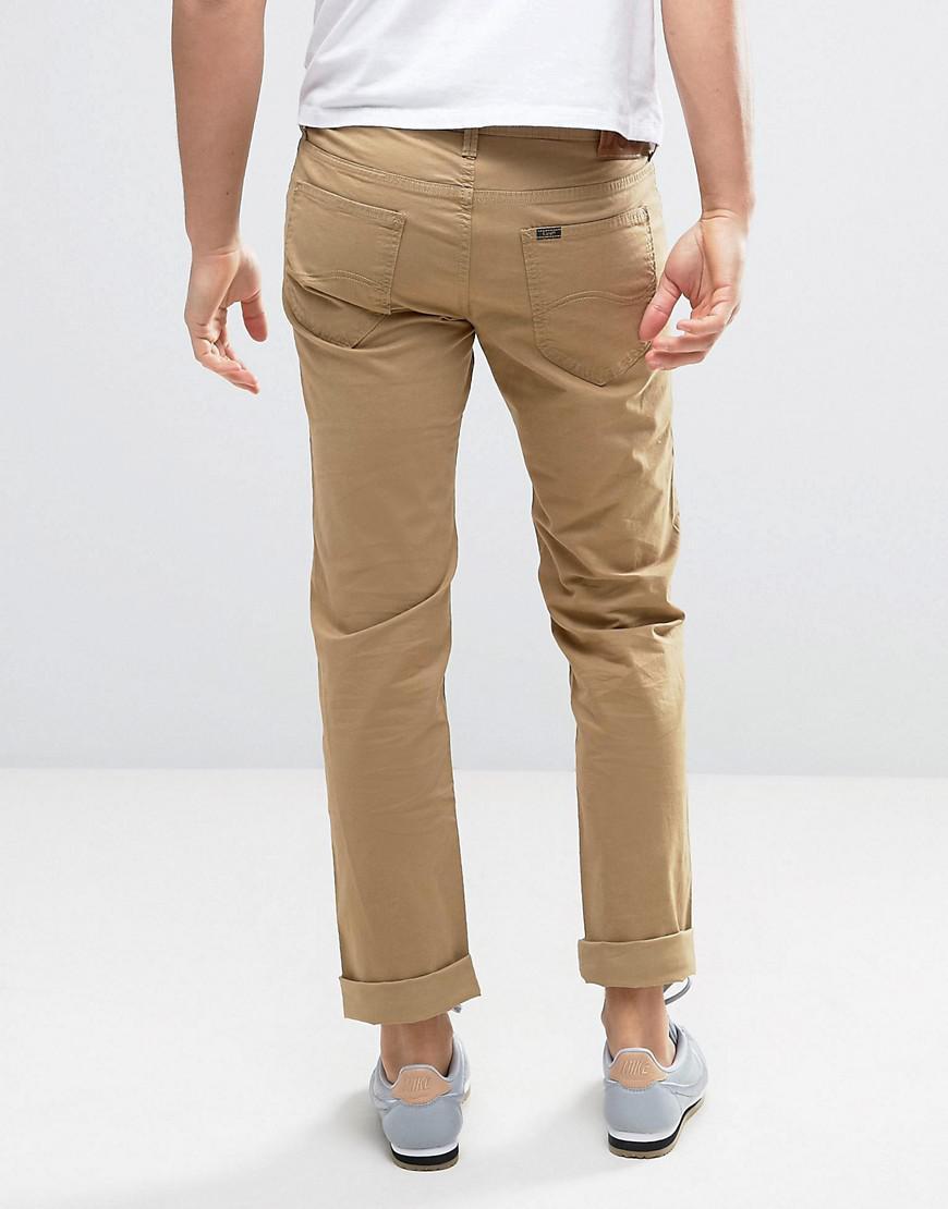 Lee Jeans Denim Daren Regular Straight Jeans Army Drab in Orange for Men
