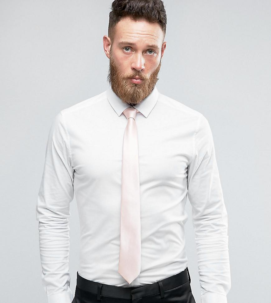 Lyst - Asos Wedding Skinny Shirt In White With Pink Tie Save in ...