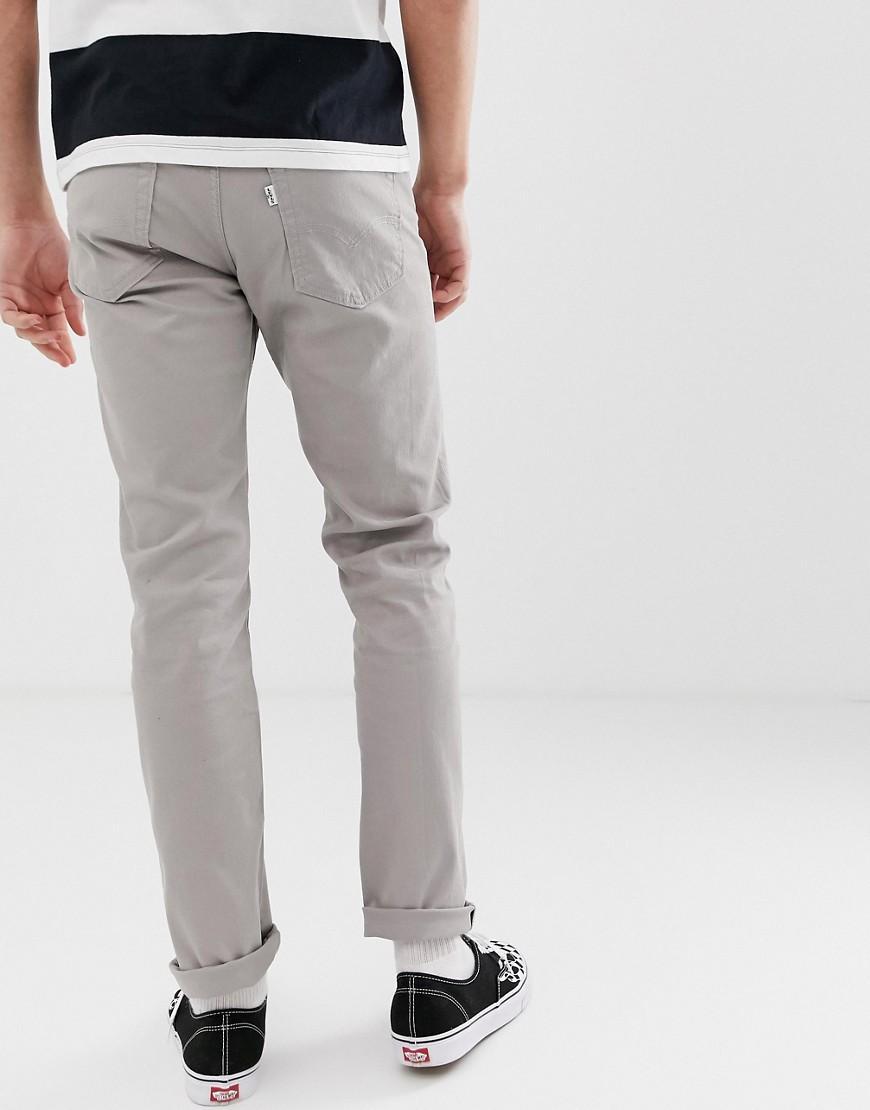 Levi's Denim Bedford - Slim-fit Broek Met 5zakken In Lichtgrijs in het Grijs voor heren
