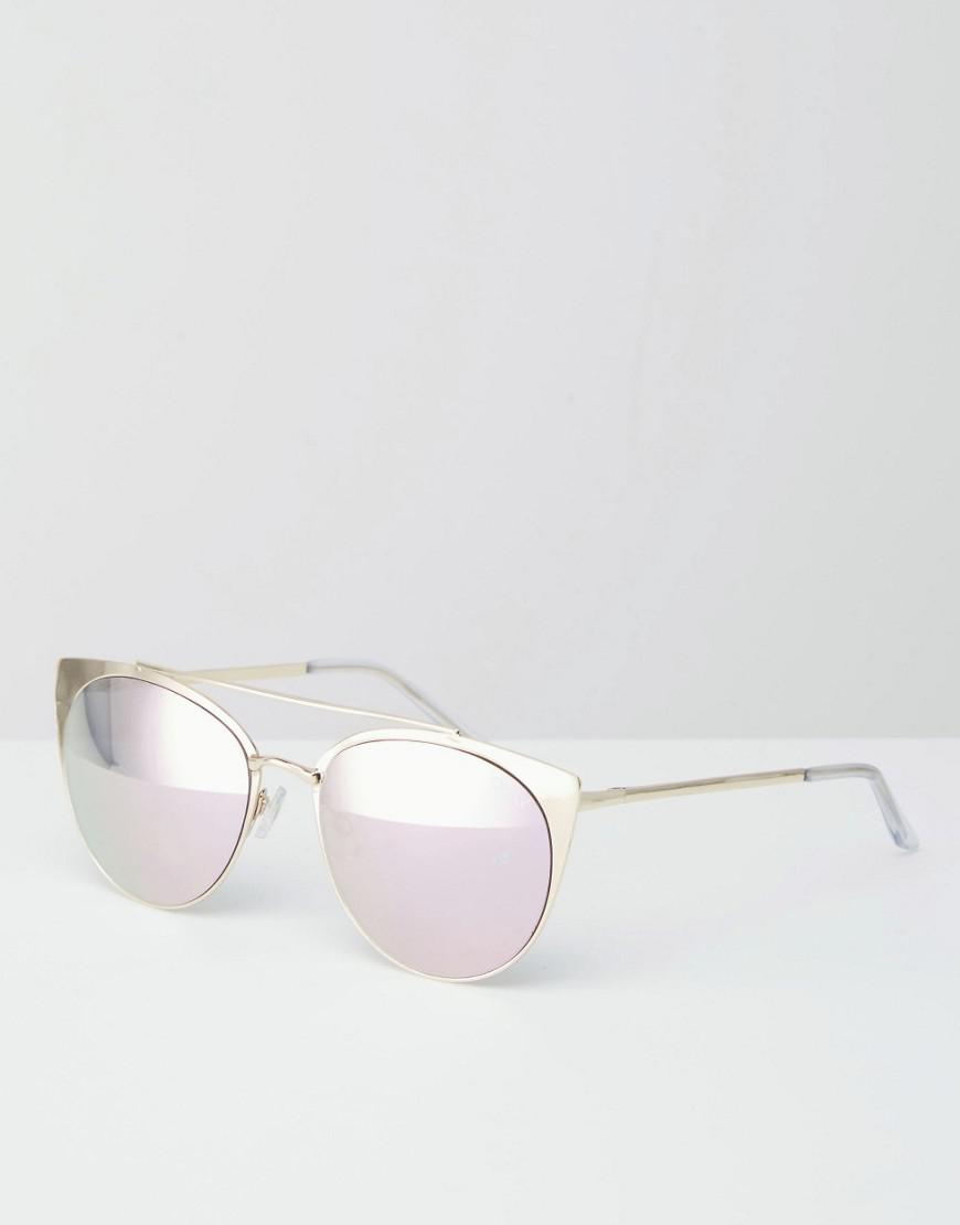 9f797e1097800 Quay Tell Me Why Pink Mirror Metal Cat Eye Sunglasses in Pink for ...