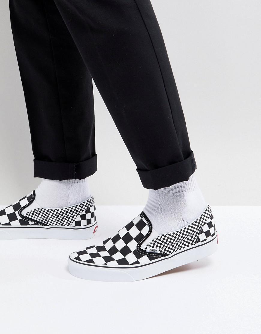d6b124fe11093e Vans Classic Checkerboard Slip-ons In Black Va38f7q9b in Black for ...