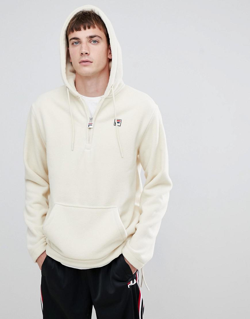 d9d78fdeb3dfb Fila White Line Teddy Fleece Hoodie With Small Logo In White in White for  Men - Lyst