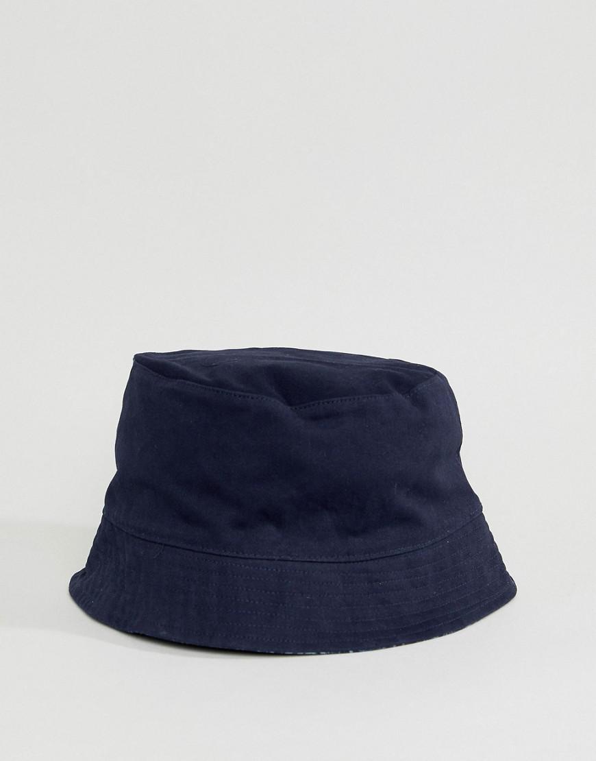 Lyst - Pretty Green Tonal Paisley Reversible Bucket Hat In Navy in ... 3c1ce0a55b21