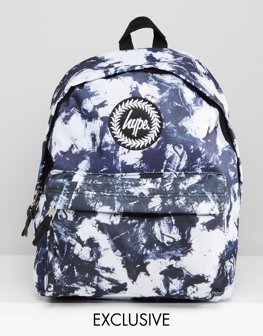 Hype Exclusive Monotone Stroke Backpack In Blue | Lyst