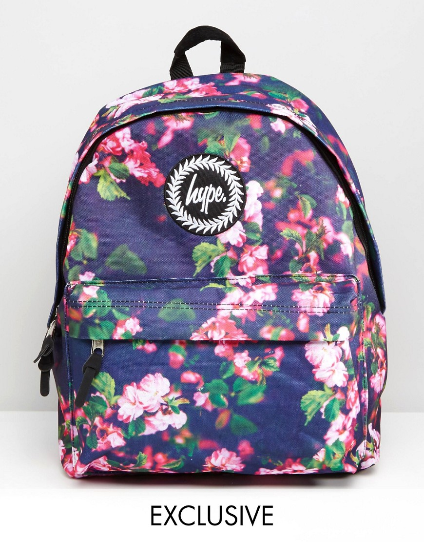 Hype Synthetic Exclusive All Over Small Floral Backpack in