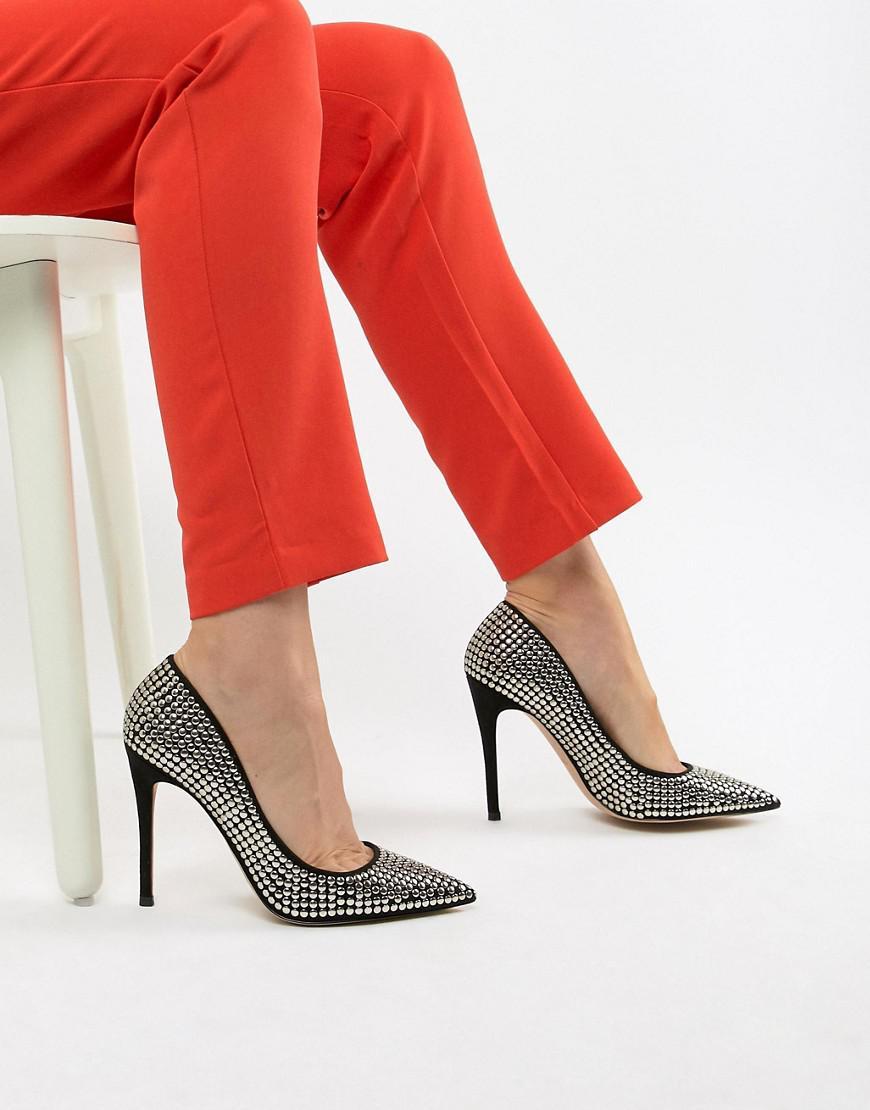 91b5b647a8a Lyst aldo bralilia studded pumps in black jpg 870x1110 Aldo red suede  evening heels