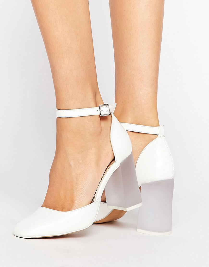 e0025497009 Asos Prima Donna High Block Heels in White - Lyst