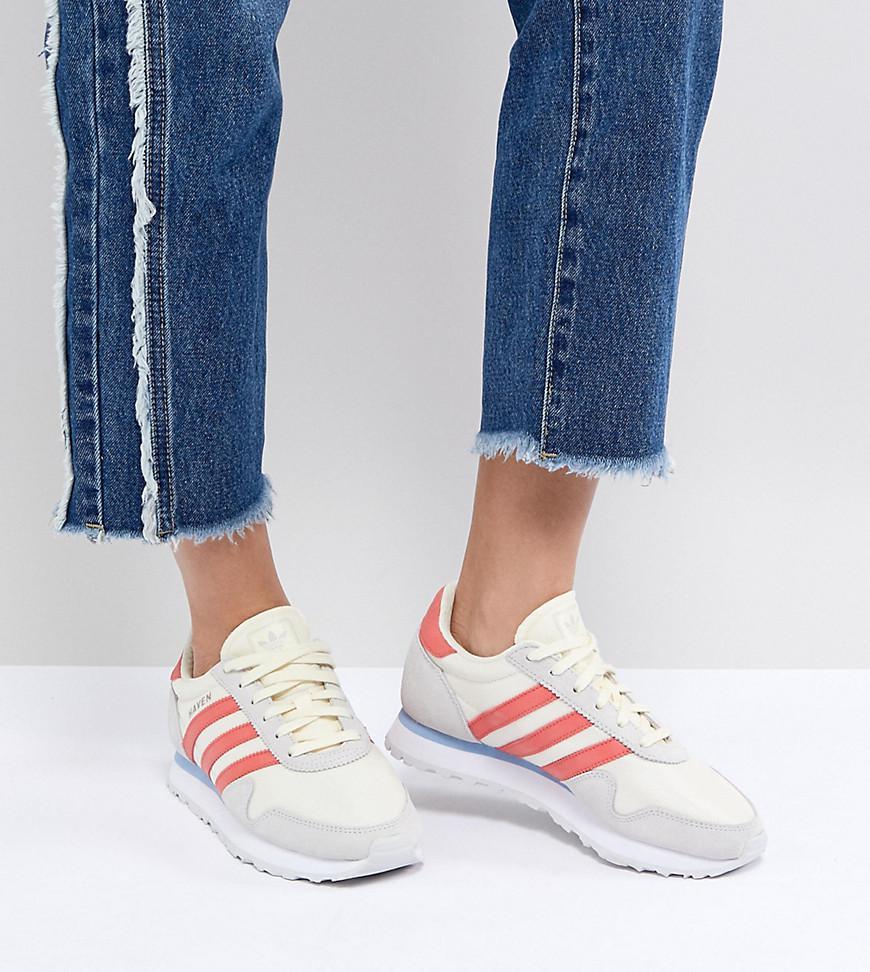 Adidas Originals Originals Haven Trainers In Off White And Red