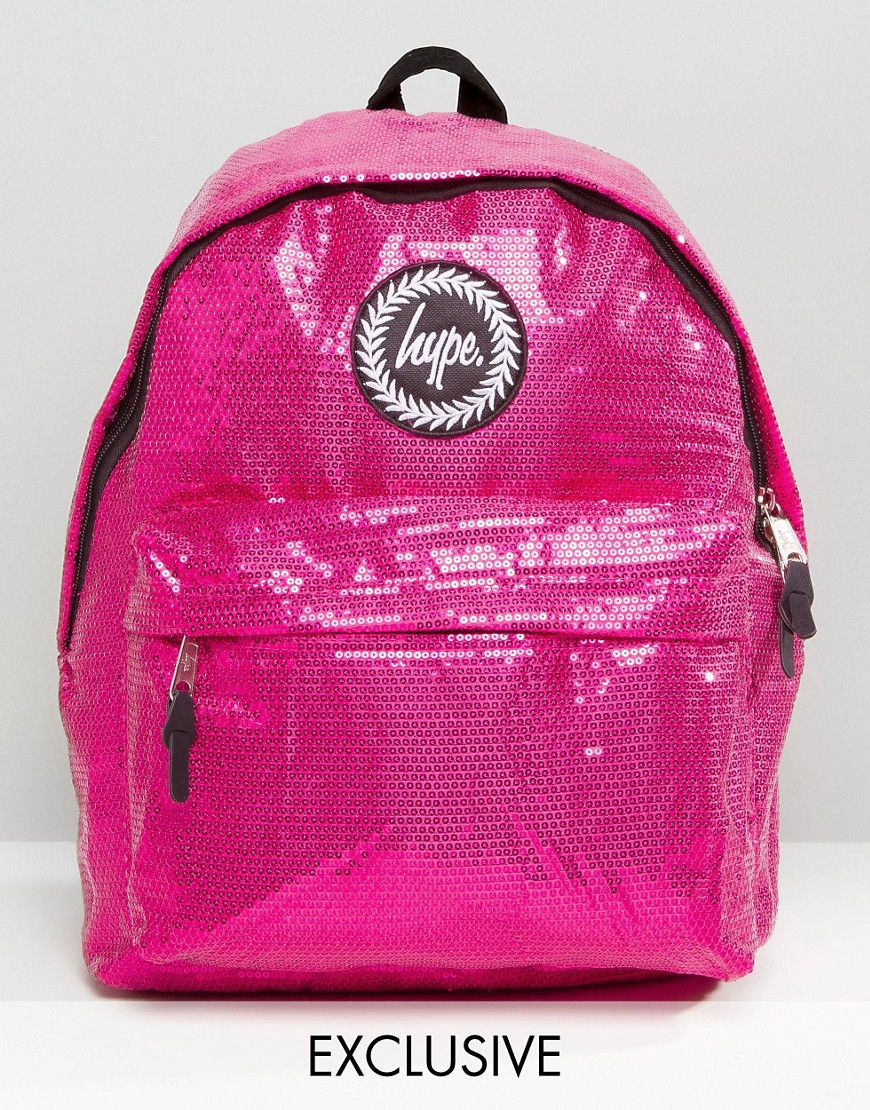 Hype Exclusive All Over Sequin Backpack In Pink Lyst