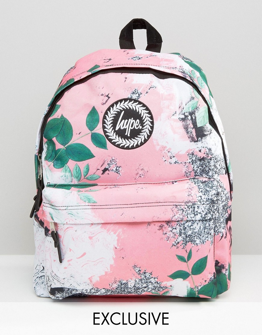 f15b0b563e5a Hype Exclusive Peachy Floral   Leaf Backpack - Multi - Lyst