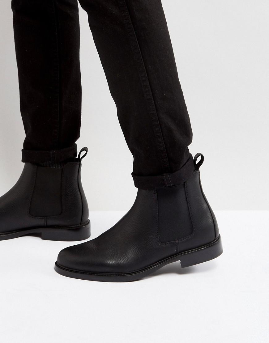 Polo Ralph Lauren SOFT MILLED PULL UP NORMANTON - Classic ankle boots - black