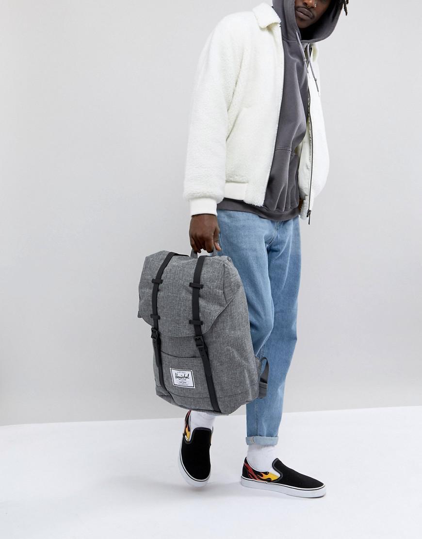 Herschel Supply Co. Retreat Textured Backpack in Gray for Men - Save ... fca4b01387