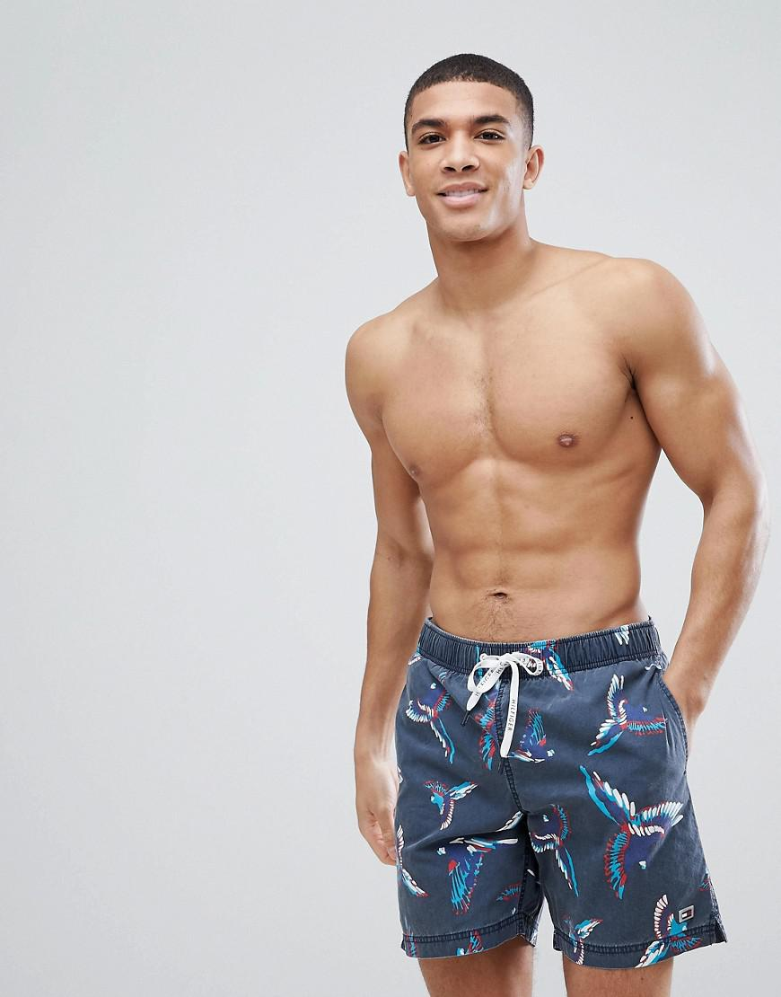 Best Place Cheap Price Authentic Cheap Price Long Drawstring Bird Print Swim Shorts in Washed Black - Black Tommy Hilfiger KKeo7dxH