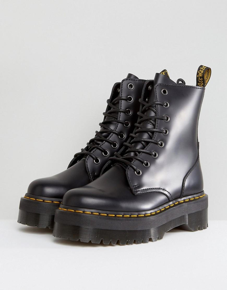 35c7a312f5bc Lyst - Dr. Martens Jadon Flatform Chunky Boots in Black