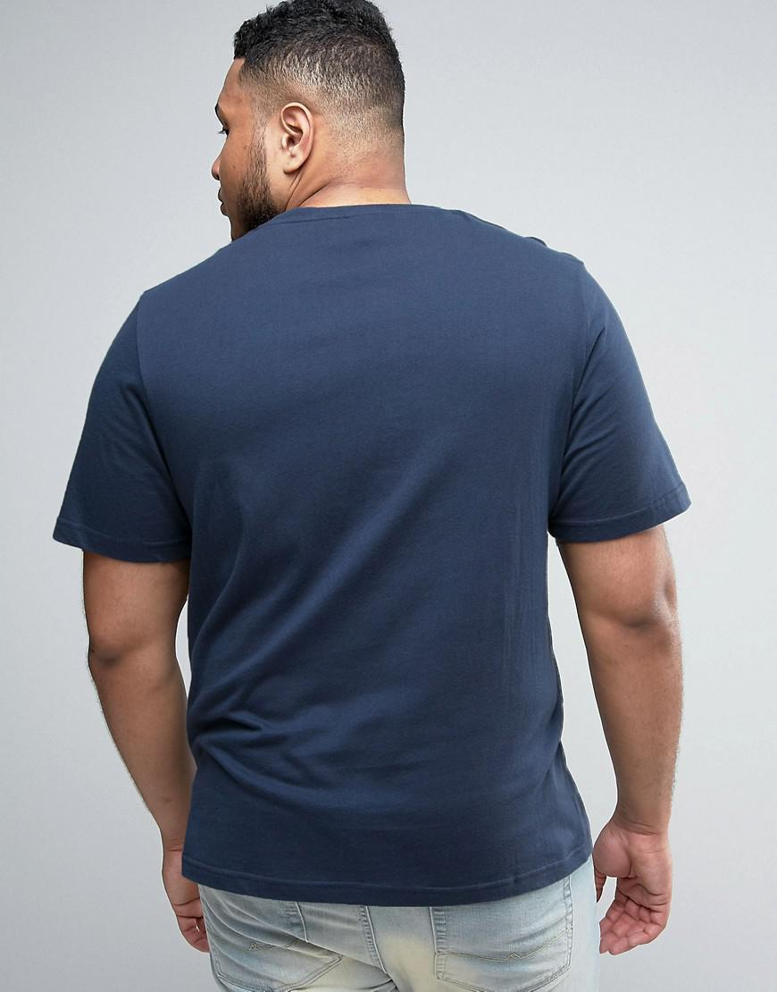 Lyst ellesse plus t shirt with classic logo in blue for men for Lands end logo shirts