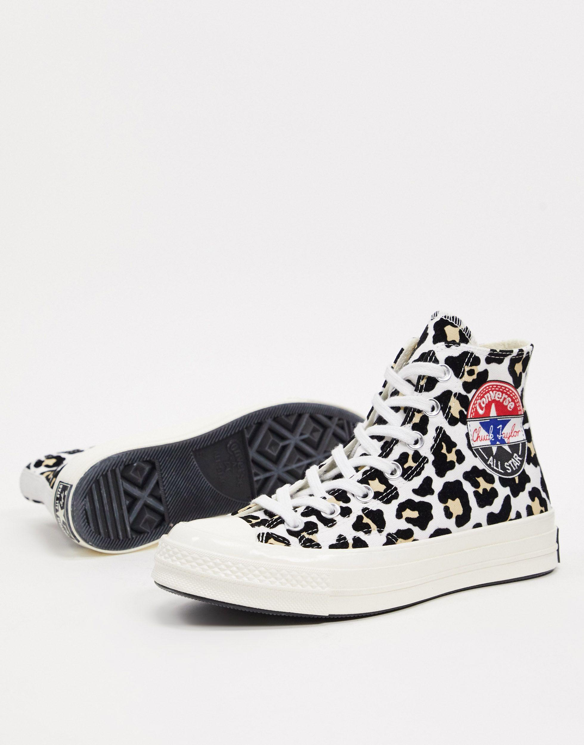 Converse Rubber Chuck '70 Hi Flocked Leopard Print Sneakers-multi ...