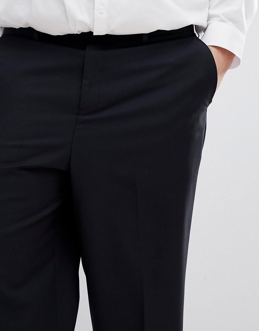 PLUS Wide Leg Cropped Suit Trouser In Black - Black French Connection iVsG7dEjs
