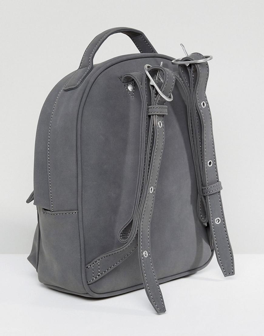 44aeb2ff475a Lyst - Matt   Nat Mini Munich Faux Suede Grey Backpack in Gray