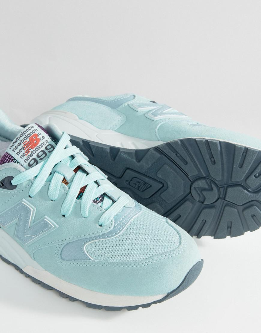 separation shoes 6a12a d641c New Balance 999 Suede Trainers in Blue - Lyst