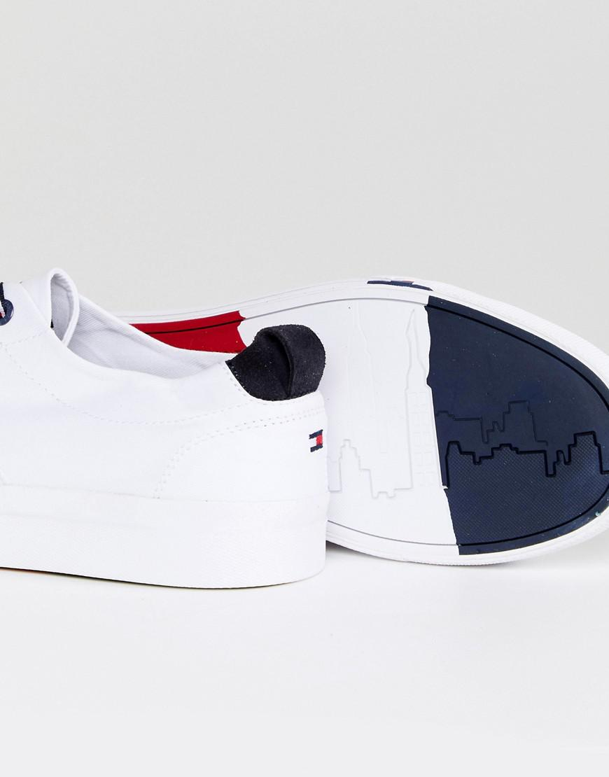 f17bd3883ff31c Lyst - Tommy Hilfiger Dino Canvas Sneakers In White in White for Men