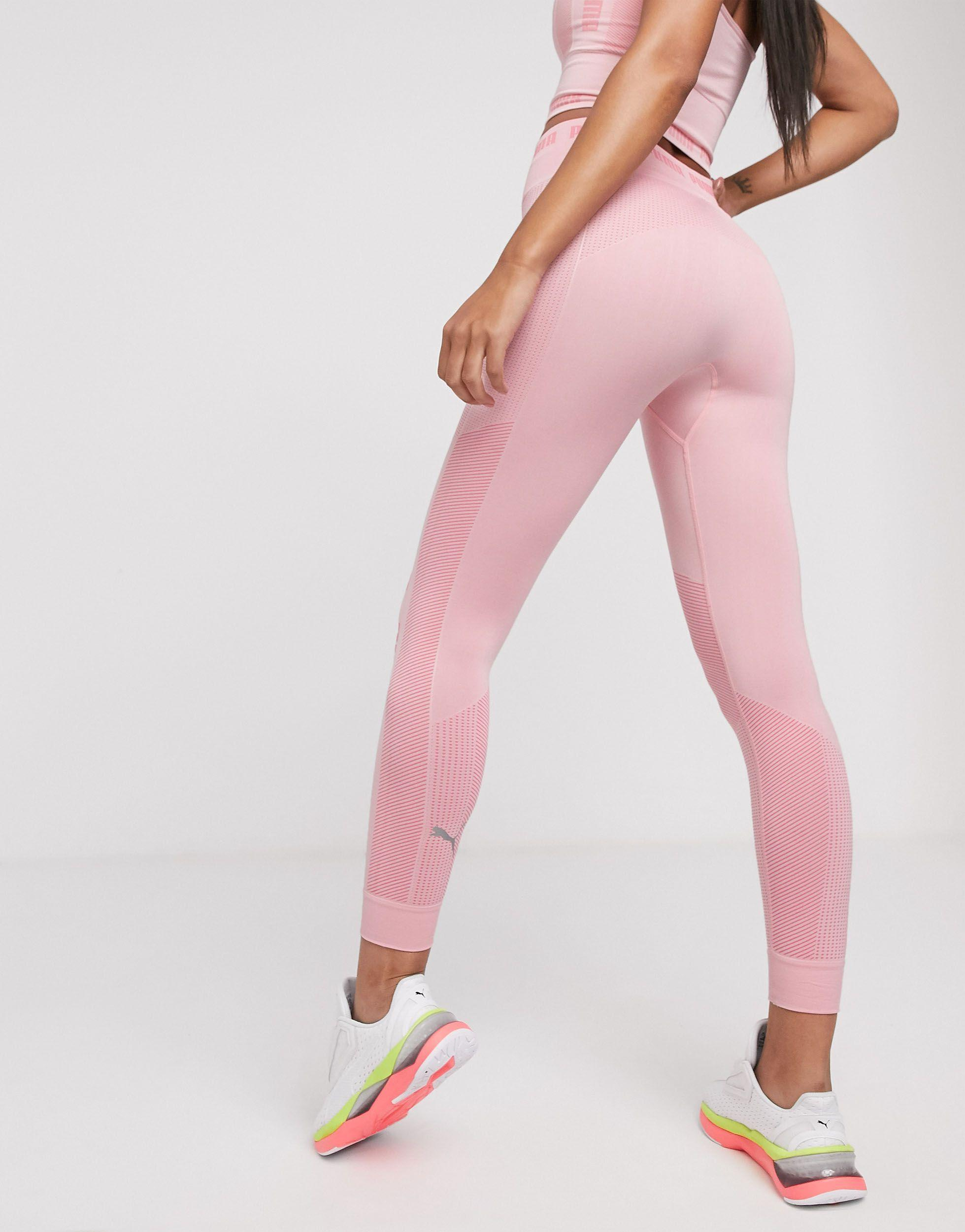 PUMA Seamless leggings in Pink - Save 2% - Lyst