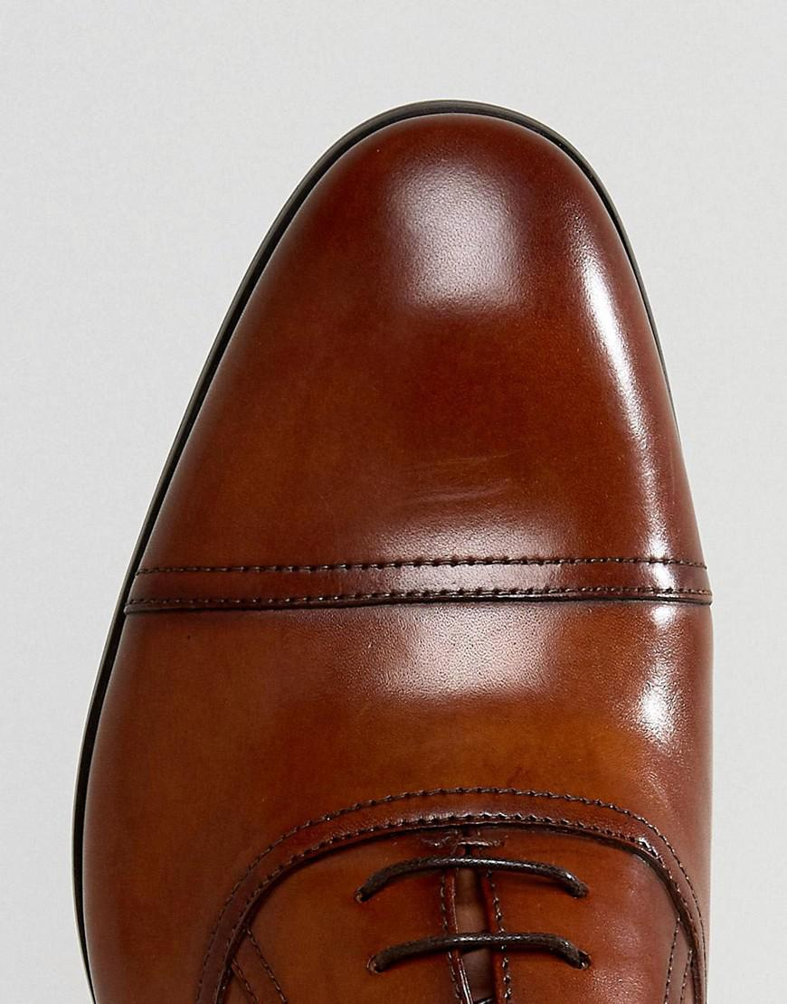 Steve Madden Leather Herbert Oxford Shoes In Tan in Brown for Men