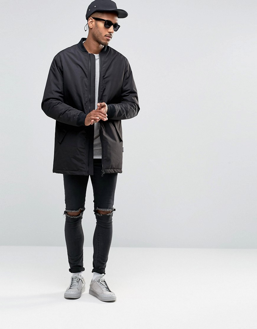 D-Struct Cotton Ribbed Jumper in Grey (Grey) for Men