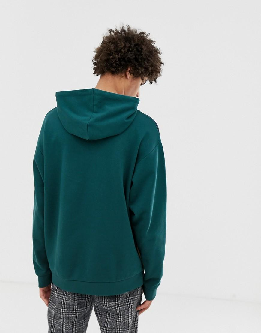 ASOS Oversized Hoodie in het Groen voor heren