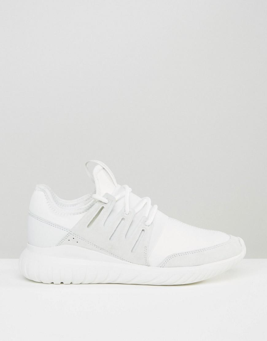 adidas Originals Suede Tubular Radial Sneakers In White Aq6722 for Men