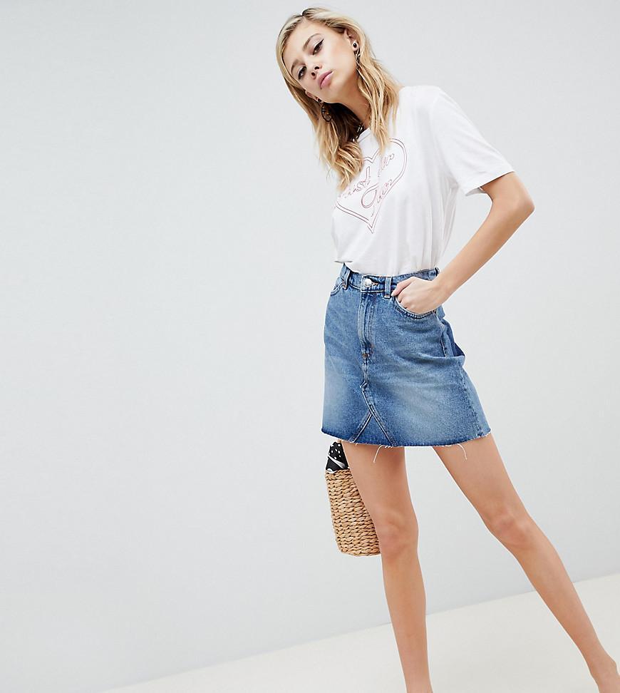 a2ce25efadc54a Jupe en jean femme de coloris bleu