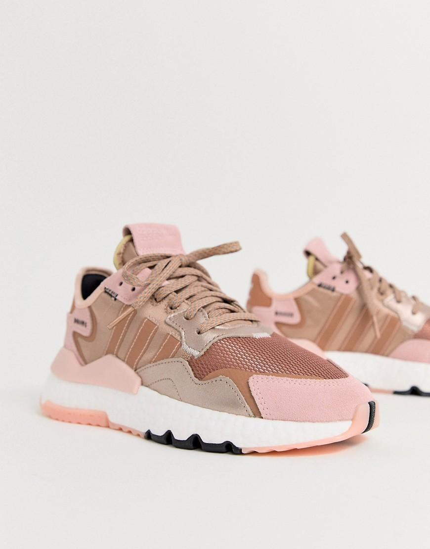 adidas originals nite jogger rose gold
