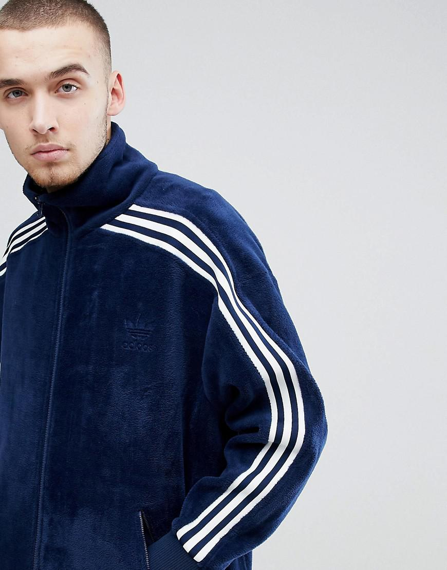 watch 7f898 1fa80 Lyst - adidas Originals Adicolor Velour Track Jacket In Over