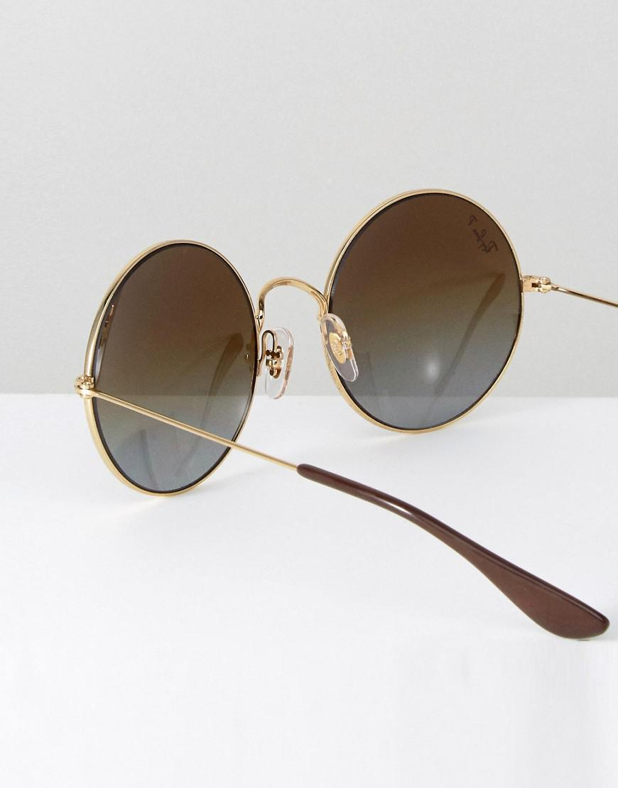 Ray-Ban Ray Ban Oversized Round Sunglasses In Brown Fade for Men