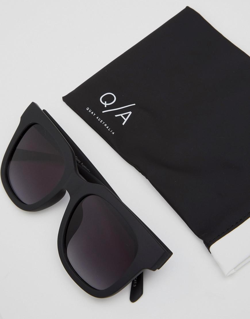 f4daef9d18595 Quay Libre Square Lens Sunglasses in Black - Lyst