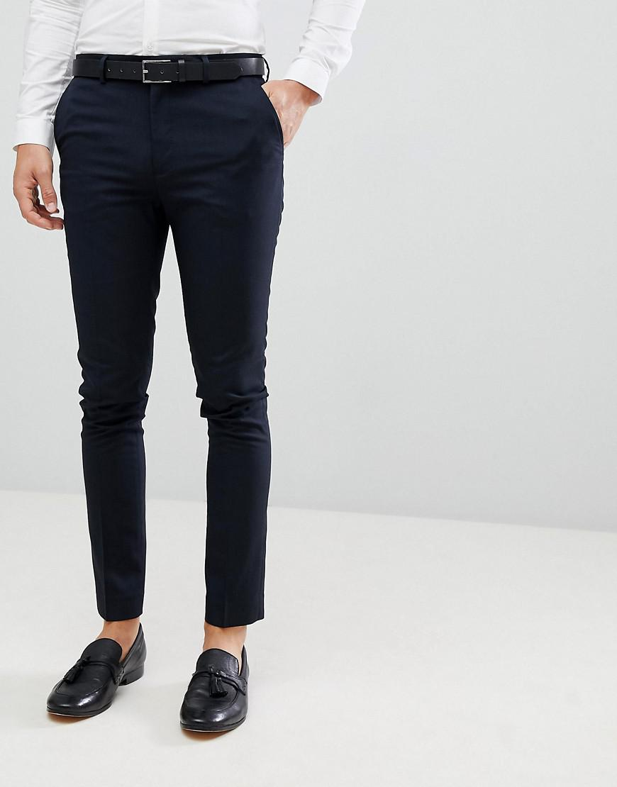4c58b373ae1e New Look Smart Skinny Pants In Navy in Blue for Men - Lyst