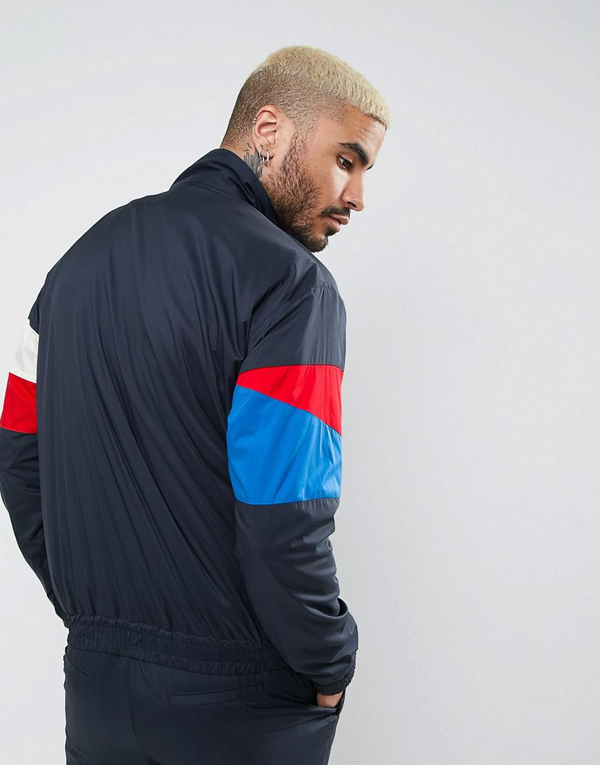 WOOD WOOD Synthetic Holborn Overhead Track Jacket in Navy (Blue) for Men