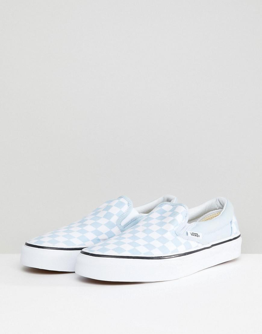 Vans Canvas Slip On Trainers in Blue - Lyst