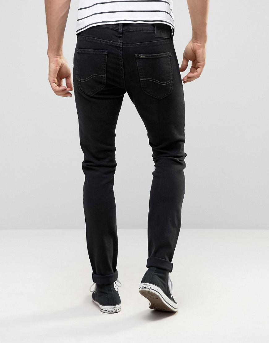 Lee Jeans Denim Malone Super Skinny Jeans Ink Black for Men