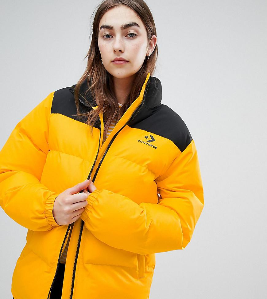 0e3df01477016e Converse - Metallic Oversized Exclusive Yellow Padded Jacket - Lyst. View  fullscreen