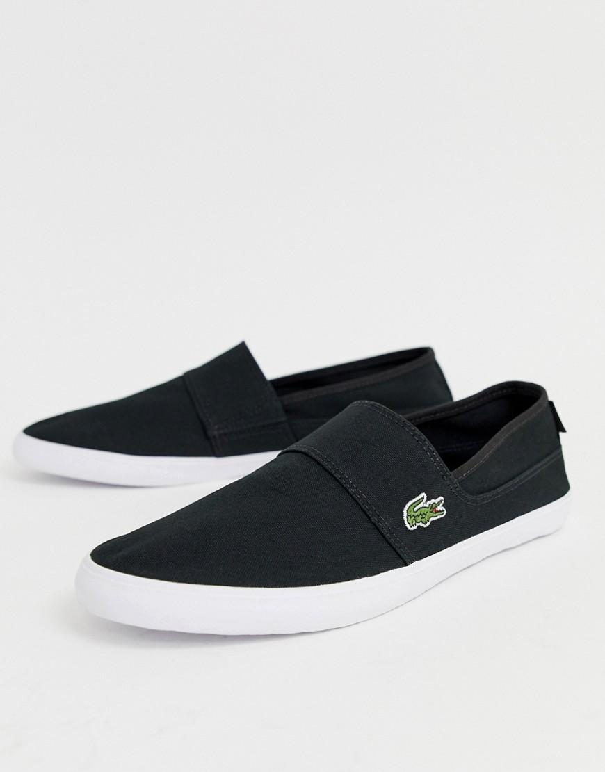 8e69266fbb5a Lacoste Marice Slip On Plimsolls In Black in Black for Men - Save 31% - Lyst