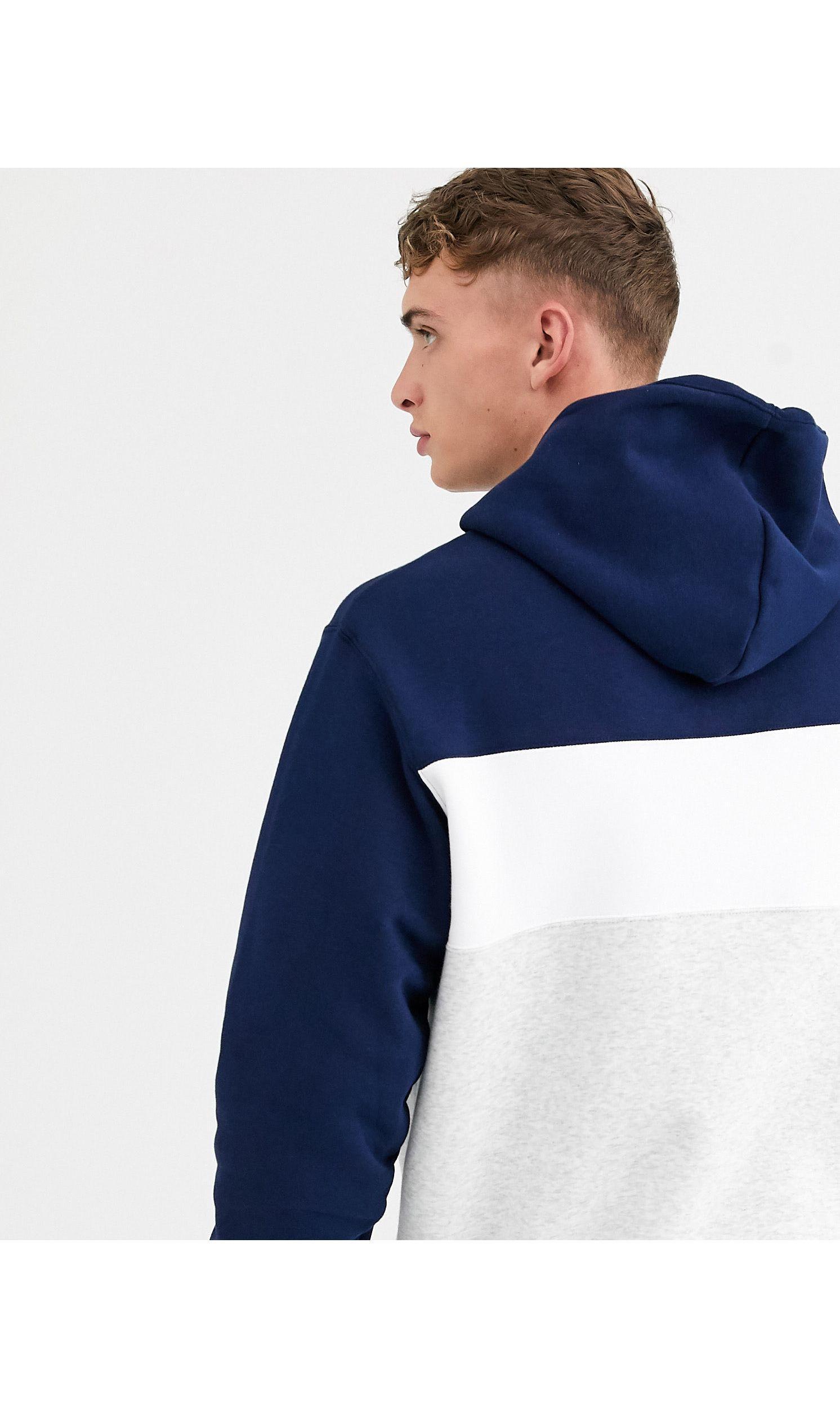 adidas Originals Katoen Hoodie In Marineblauw in het Blauw voor heren