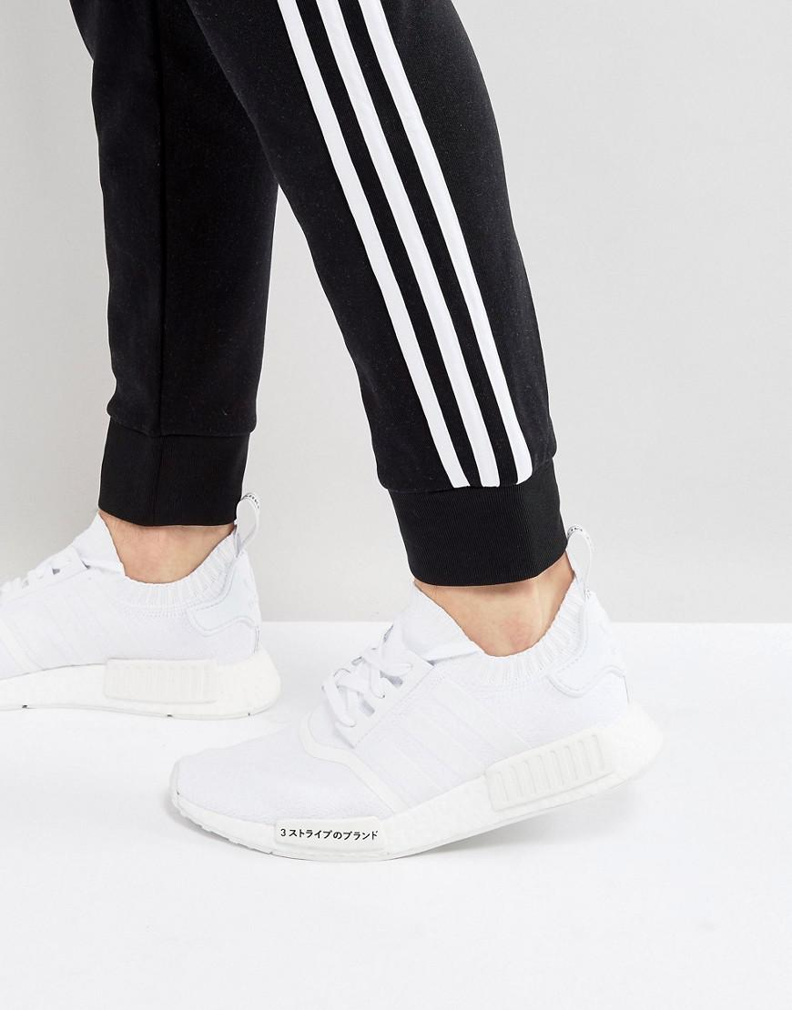 lyst adidas originals nmd r1 primeknit ausbilder in weißen bz0221 in