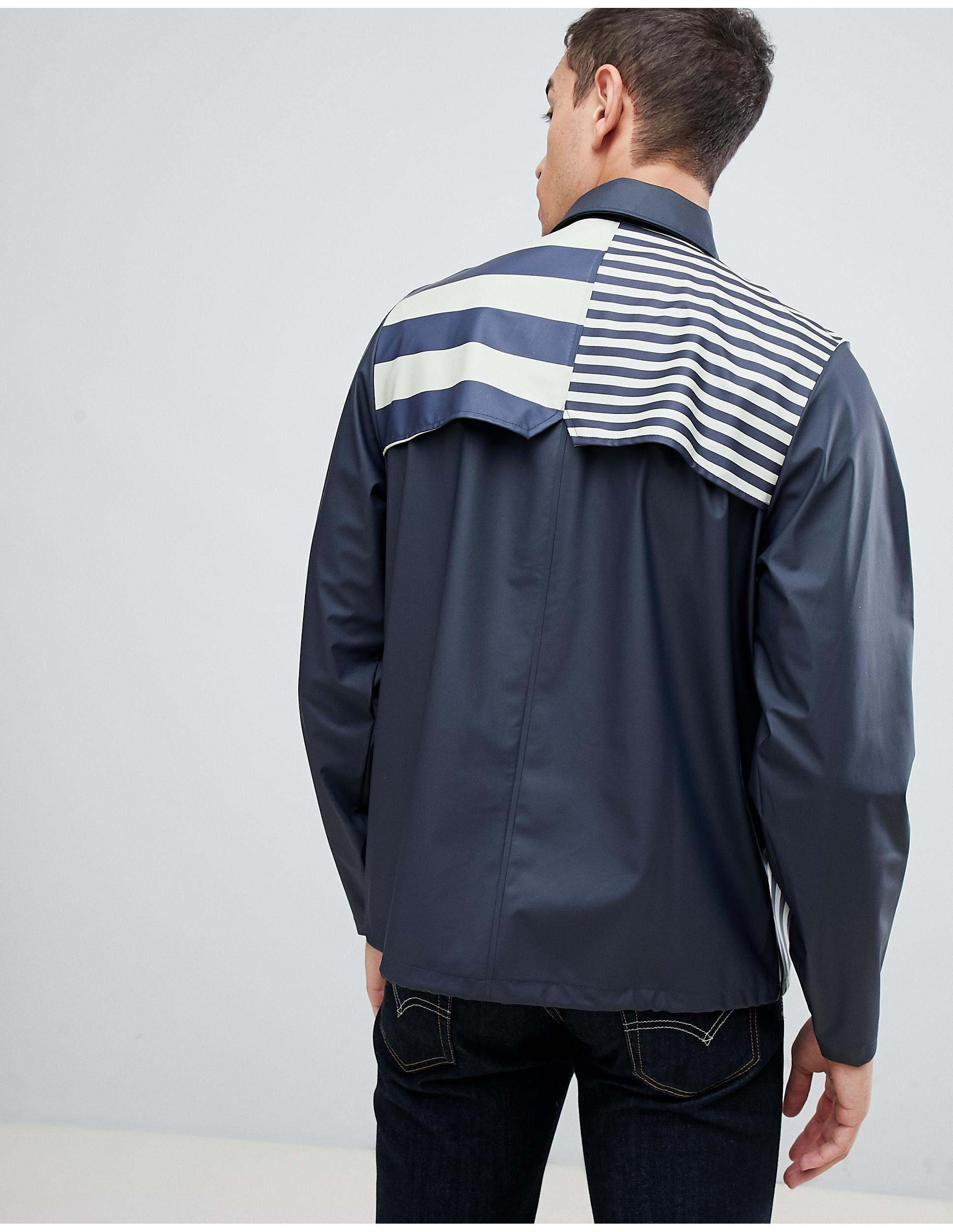 Rains Coach Jacket in Navy (Blue) for Men