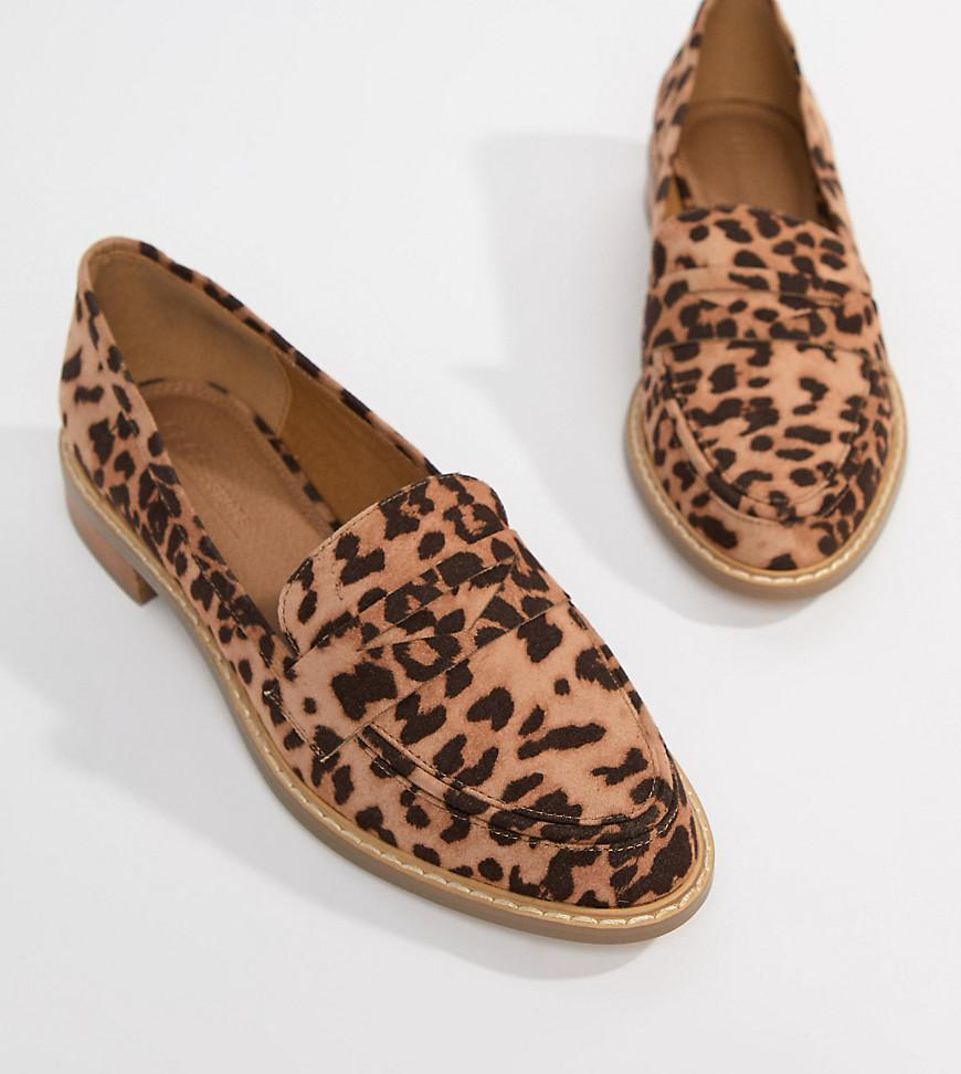 4b1c7a69abf0 ASOS Mantra Loafer Flat Shoes In Leopard in Brown - Lyst