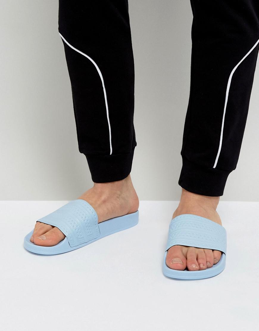 lyst adidas originali adilette in blu per salvare il 52% uomini