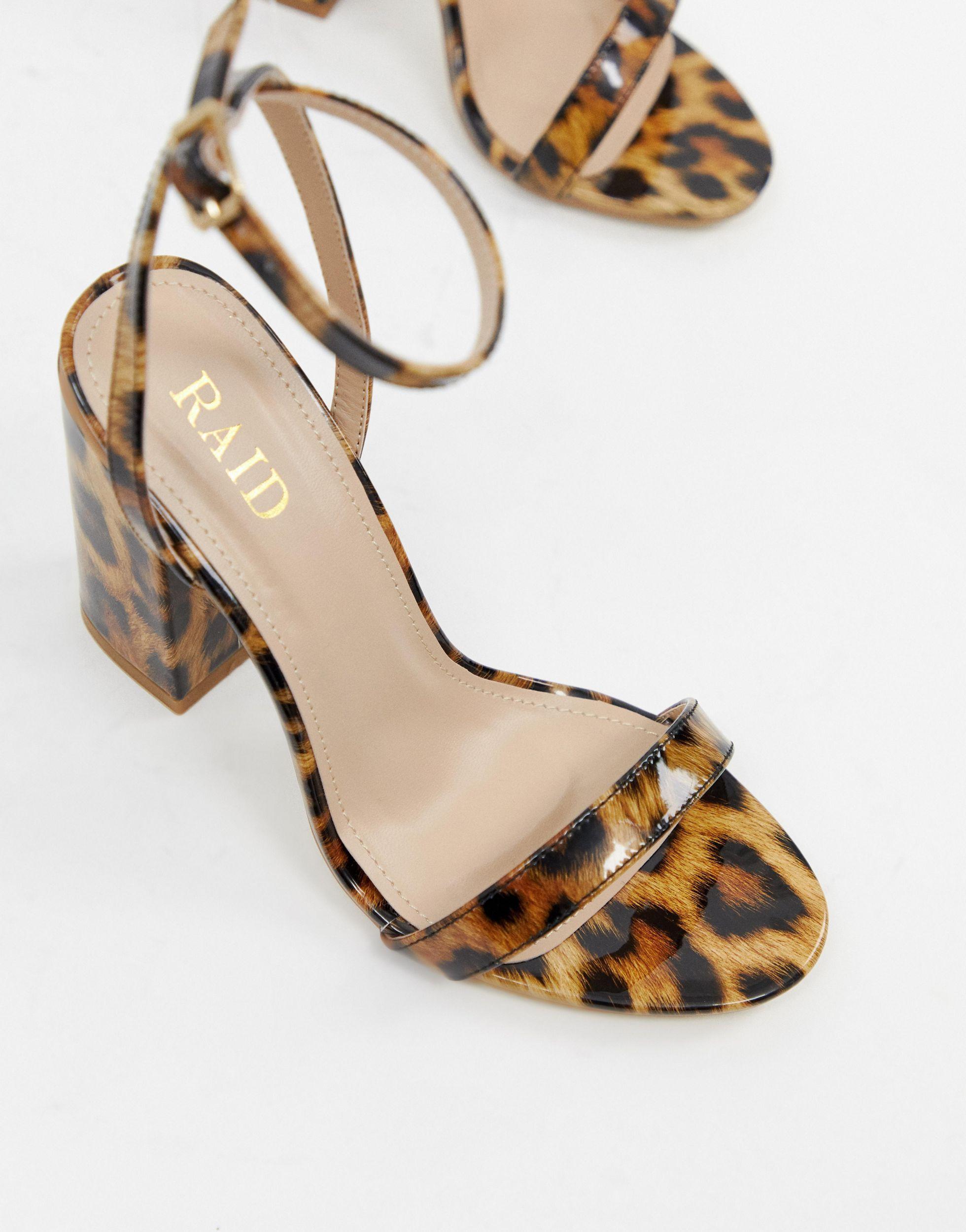 Raid Wide Fit Leather Enya Leopard